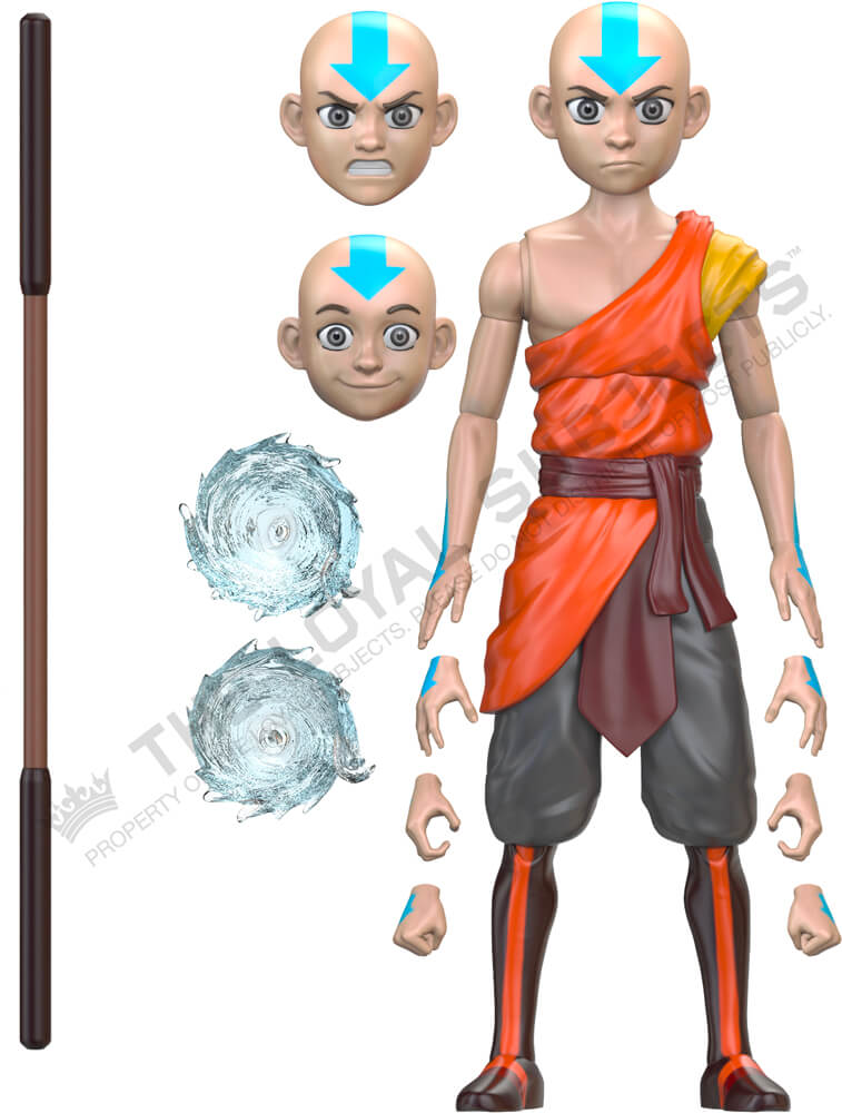 "AVATAR: THE LAST AIRBENDER Aang Monk BST AXN 5"" Action Figure"